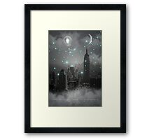 Imagination Takes You Everywhere - B&W (City Lights Series) Framed Print