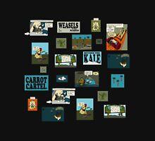 The Secret Lives of Rabbits - black background Unisex T-Shirt