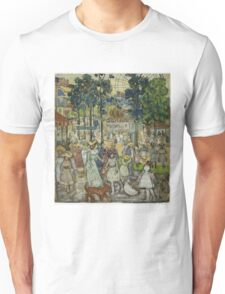Maurice Brazil Prendergast - The Amusement Park. People portrait: party, woman and man, people, family, female and male, peasants, crowd, romance, women and men, city, home society Unisex T-Shirt