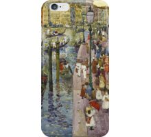 Maurice Brazil Prendergast - The Grand Canal, Venice. Urban landscape: city view, streets,  Venice, house, trees, cityscape, architecture, construction, travel landmarks, panorama garden, buildings iPhone Case/Skin