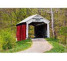 Bowsher Ford Covered Bridge Photographic Print