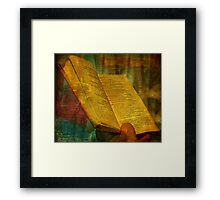The Prayer: And with these words, I do promise Framed Print