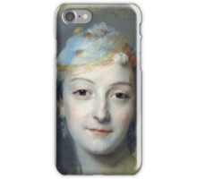 Maurice-Quentin De La Tour - Portrait Of Marie Fel. Woman portrait: sensual woman, girly art, female style, pretty women, femine, beautiful , cute,  lady, love, sexy lady, blossom iPhone Case/Skin