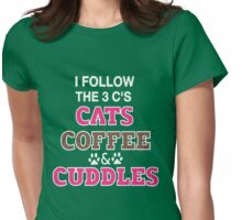 C-A-T COFFEE & CUDDLES Womens Fitted T-Shirt