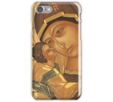 Orthodox Icon of Virgin Mary and Baby Jesus iPhone Case/Skin