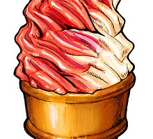 Strawberry Twist Cone by KellyGilleran