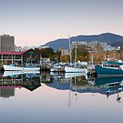 Victoria Dock Panorama, Hobart, Tasmania by Chris Cobern