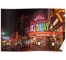 Clifton Hill At Night  Poster