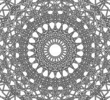 Hexagon Black Sticker