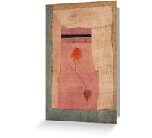 Paul Klee - Arabian Song. Abstract painting: abstract art, geometric, Arabian ,  Song, lines, forms, creative fusion, spot, shape, illusion, fantasy future Greeting Card