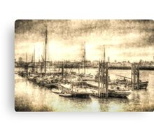 River Thames Boat Community Canvas Print