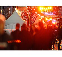 Street festival – red line Photographic Print