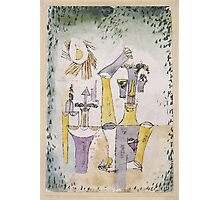 Paul Klee - Black Magic . Abstract painting: abstract art, geometric, Magic , composition, woman, man, people, spot, shape, illusion, fantasy future Photographic Print