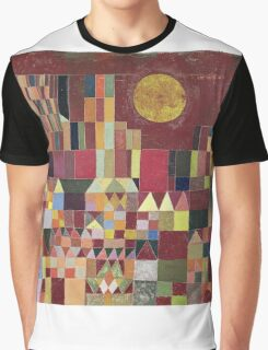 Paul Klee - Castle And Sun. Abstract painting: abstract art, geometric, Castle , composition, lines, forms, Sun, spot, shape, illusion, fantasy future Graphic T-Shirt