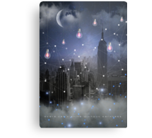 Stars Cannot Shine Without Darkness - City Version (City Lights Series) Metal Print
