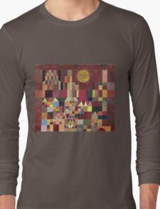 Paul Klee - Castle And Sun. Abstract painting: abstract art, geometric, Castle , composition, lines, forms, Sun, spot, shape, illusion, fantasy future Long Sleeve T-Shirt