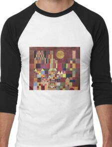 Paul Klee - Castle And Sun. Abstract painting: abstract art, geometric, Castle , composition, lines, forms, Sun, spot, shape, illusion, fantasy future Men's Baseball ¾ T-Shirt