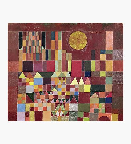 Paul Klee - Castle And Sun. Abstract painting: abstract art, geometric, Castle , composition, lines, forms, Sun, spot, shape, illusion, fantasy future Photographic Print