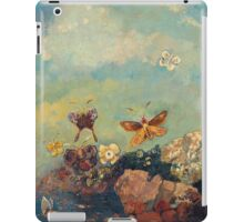 Odilon Redon - Butterflies 1910. Butterflies painting:  butterfly, fly,  butterfly, movement, flutter, fluttering, animal, colourful , little small, impression , nature iPad Case/Skin