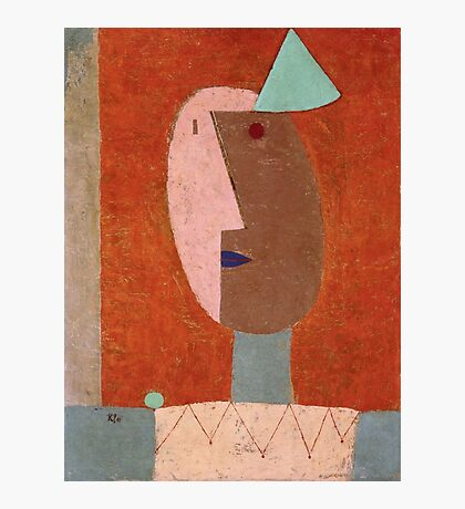 Paul Klee - Clown. Abstract painting: abstract art, geometric, expressionism, composition, lines, forms, creative fusion, spot, shape, illusion, fantasy future Photographic Print