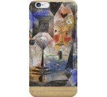 Paul Klee - Concentrierter Roman. Abstract painting: abstract art, geometric, Magic , composition, woman, man, people, spot, shape, illusion, fantasy future iPhone Case/Skin