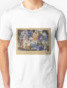 Paul Klee - Concentrierter Roman. Abstract painting: abstract art, geometric, Magic , composition, woman, man, people, spot, shape, illusion, fantasy future Unisex T-Shirt