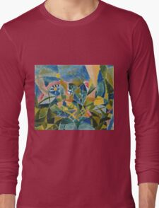 Paul Klee - Flower Bed. Abstract painting: abstract art, geometric, Flower,  Bed, lines, forms, creative fusion, spot, shape, illusion, fantasy future Long Sleeve T-Shirt