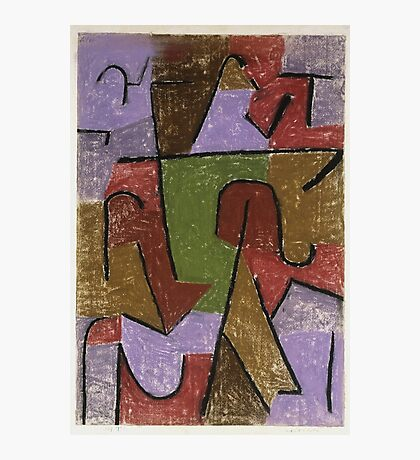 Paul Klee - Indianisch. Abstract painting: abstract art, geometric, expressionism, composition, lines, forms, creative fusion, spot, shape, illusion, fantasy future Photographic Print