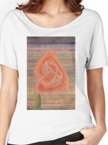 Paul Klee - Lonely Flower. Abstract painting: abstract art, geometric, Lonely ,  Flower, lines, forms, creative fusion, spot, shape, illusion, fantasy future Women's Relaxed Fit T-Shirt