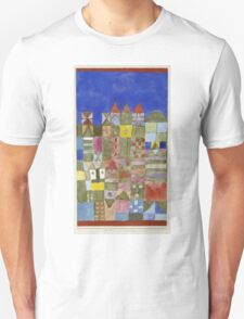 Paul Klee - Marjamshausen, 1928. Abstract painting: abstract art, geometric,  building, house, lines, forms, creative fusion, spot, shape, illusion, fantasy future Unisex T-Shirt