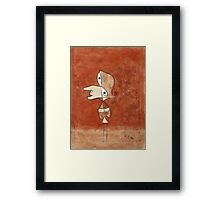 Paul Klee - Portrait Of Brigitte. Abstract painting: abstract art, geometric, bird, woman, lines, forms,  Figure, spot, shape, illusion, fantasy future Framed Print