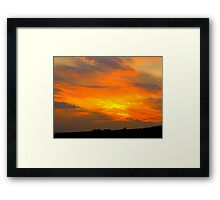 Inch Island Sunset Framed Print