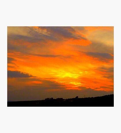 Inch Island Sunset Photographic Print
