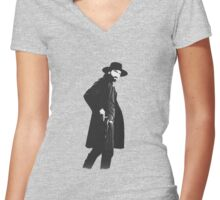 Hell On Wheels Women's Fitted V-Neck T-Shirt