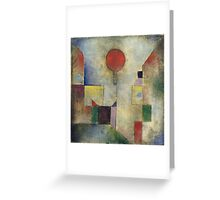 Paul Klee - Red Balloon. Abstract painting: abstract art, geometric, Balloon, composition, lines, forms, creative fusion, spot, shape, illusion, fantasy future Greeting Card