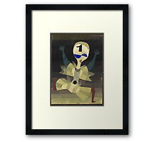 Paul Klee - Runner At The Goal. Abstract painting: abstract art, geometric, Runner , composition, lines, forms, creative fusion, spot, shape, illusion, fantasy future Framed Print