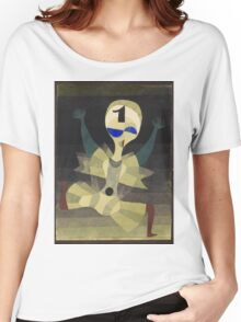 Paul Klee - Runner At The Goal. Abstract painting: abstract art, geometric, Runner , composition, lines, forms, creative fusion, spot, shape, illusion, fantasy future Women's Relaxed Fit T-Shirt