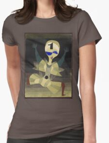 Paul Klee - Runner At The Goal. Abstract painting: abstract art, geometric, Runner , composition, lines, forms, creative fusion, spot, shape, illusion, fantasy future Womens Fitted T-Shirt