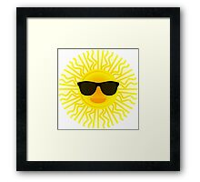 Sun shades Framed Print
