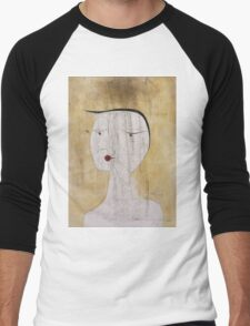 Paul Klee - Sealed Woman. Abstract painting: abstract art, geometric, Sealed,  Woman, lines, forms, creative fusion, spot, shape, illusion, fantasy future Men's Baseball ¾ T-Shirt