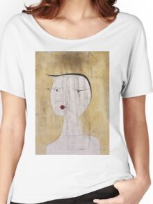 Paul Klee - Sealed Woman. Abstract painting: abstract art, geometric, Sealed,  Woman, lines, forms, creative fusion, spot, shape, illusion, fantasy future Women's Relaxed Fit T-Shirt