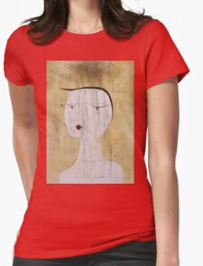 Paul Klee - Sealed Woman. Abstract painting: abstract art, geometric, Sealed,  Woman, lines, forms, creative fusion, spot, shape, illusion, fantasy future Womens Fitted T-Shirt