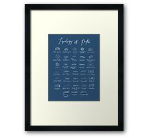 Pasta Typology Framed Print