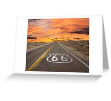 Highway Route 66 Greeting Card