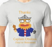 Captain Obvious (Orange) Unisex T-Shirt