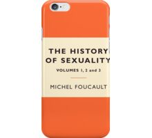 The History of Sexuality iPhone Case/Skin