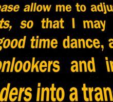 Clutch - Star Wars text crawl shirt Sticker