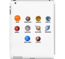 planets solar system stickers set iPad Case/Skin