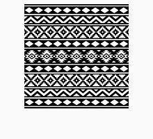 Aztec Essence Ptn III White on Black Unisex T-Shirt