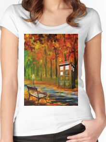 tardis beauty Women's Fitted Scoop T-Shirt